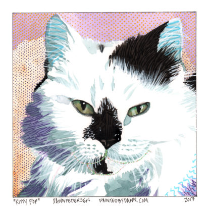 """Kitty Pop"" - Pop Art Cat Portrait"