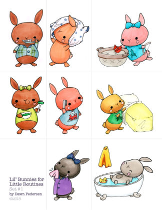 Lil' Bunnies for Little Routines, set 1