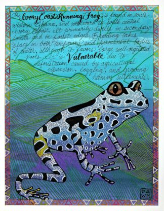 I Is for Ivory Coast Running Frog final painting