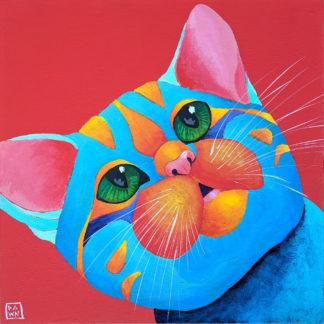 Kitten Gasp, Acrylic Painting