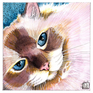 """""""BB Blue Eyes"""" drawing/painting"""