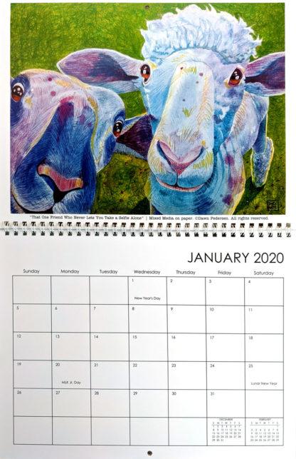 2020 Art Calendar by Dawn Pedersen: January