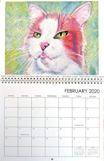 2020 Art Calendar by Dawn Pedersen: February
