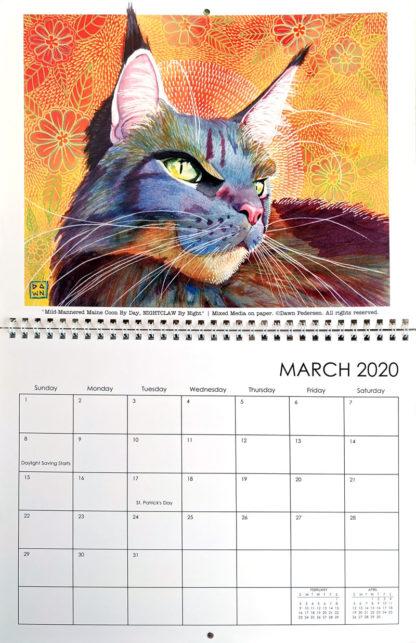 2020 Art Calendar by Dawn Pedersen: March