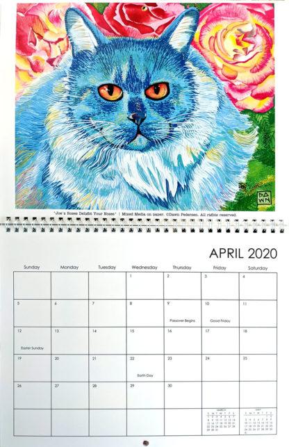 2020 Art Calendar by Dawn Pedersen: April
