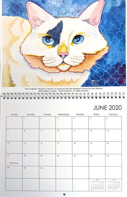 2020 Art Calendar by Dawn Pedersen: June