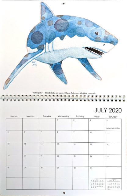 2020 Art Calendar by Dawn Pedersen: July