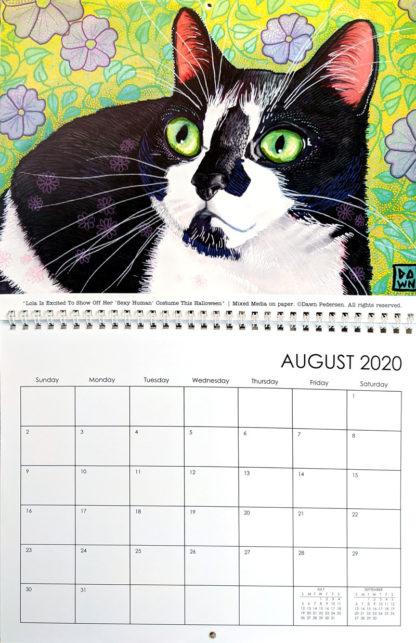 2020 Art Calendar by Dawn Pedersen: August