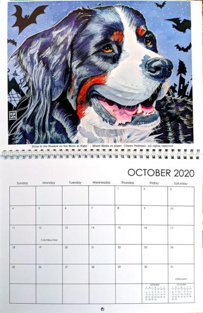 2020 Art Calendar by Dawn Pedersen: October