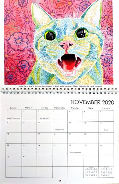 2020 Art Calendar by Dawn Pedersen: November
