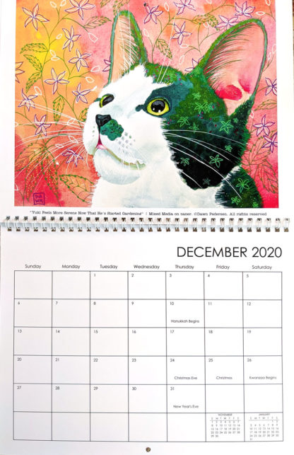 2020 Art Calendar by Dawn Pedersen: December
