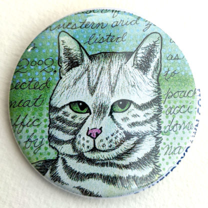 """Black-footed cat 2.25"""" Button Pin"""