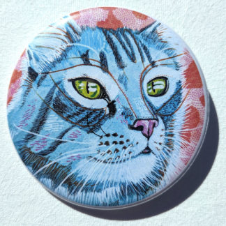 "Blue Willow 2.25"" Button Pin"