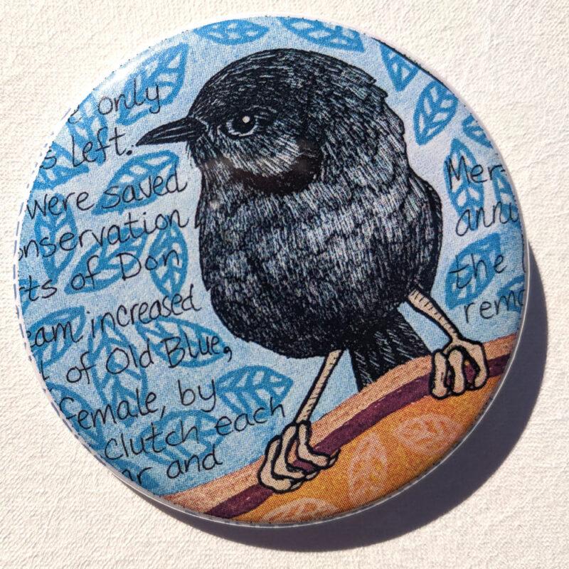 """Robin bird 2.25"""" Button Pin"""