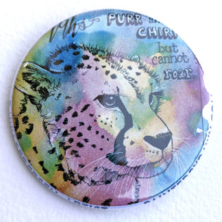 "Cheetah 2.25"" Button Pin"