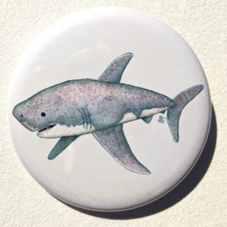 "Cupcake shark 2.25"" Button Pin"