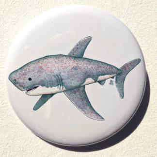 """Cupcake shark 2.25"""" Button Pin"""