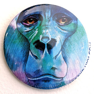 "Gorilla 2.25"" Button Pin"