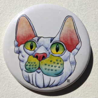 "Fergal cat 2.25"" Button Pin"