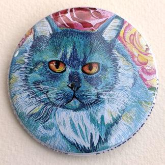 "Joe cat 2.25"" Button Pin"