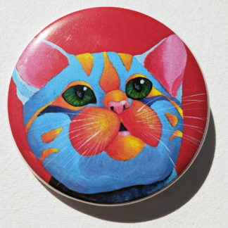 "Kitten cat 2.25"" Button Pin"
