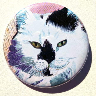 "Kitty cat 2.25"" Button Pin"