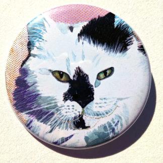 "Kitty cat 2.25"" Button Pin"