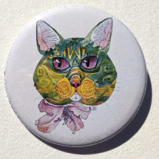 """Kuniko cat 2.25"""" Button Pin"""