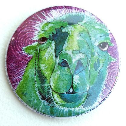 """Llama 2.25"""" Button Pin"""