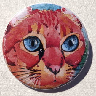 "Latte cat 2.25"" Button Pin"