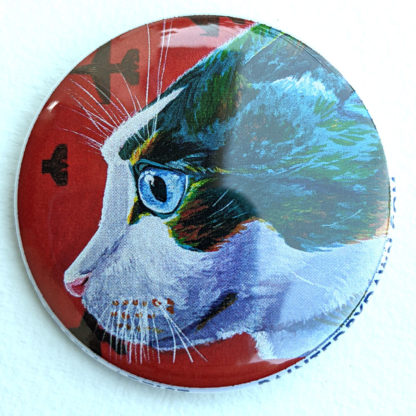 "Loki cat 2.25"" Button Pin"