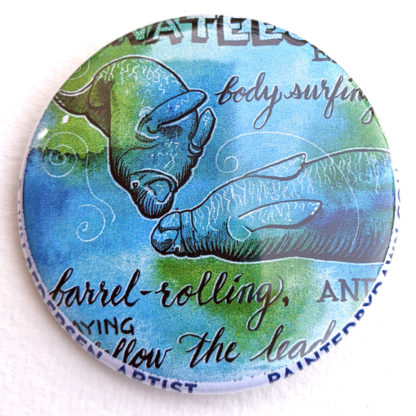"Manatees 2.25"" Button Pin"