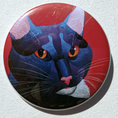 "Meowse cat 2.25"" Button Pin"