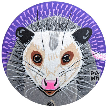 Opossum hand-painted ornament