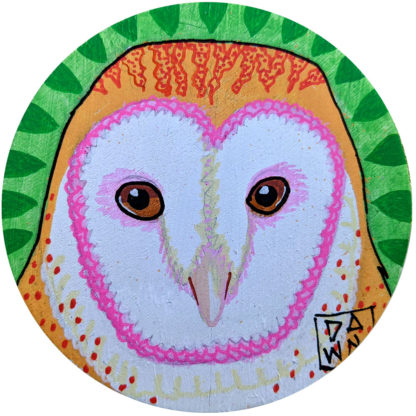 barn owl ornament without ribbon