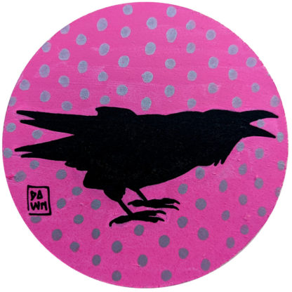 crow 2 ornament without ribbon