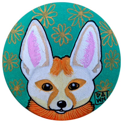 fennec fox ornament without ribbon