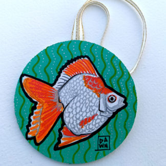 goldfish 1 ornament with ribbon