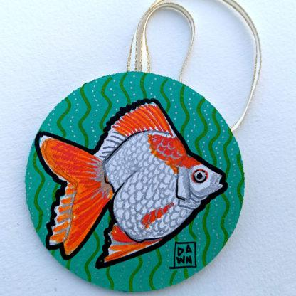 goldfish 1 ornament with ribbon