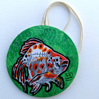 goldfish 2 ornament with ribbon