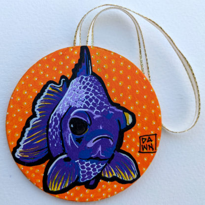 goldfish 3 ornament with ribbon