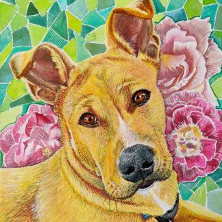 """Rosie's Favorite Walk Is Through the Botanical Gardens"" Art Print"